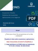 PPT Unidad 02 Tema 03_ECUACIONES Matematica Aplicada a Los Negocios (2240)