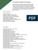 Major Model Brasil Eleita Melhor Agência De Modelos