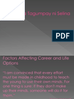 Factors Affecting Career and Life Options