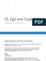 ID, Ego and Superego