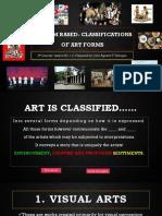 Lesson 5 - Medium Classification of Arts