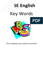 GCSE Key Words Booklet English