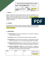 PRC-SST-007 Procedimiento de Comunicación Interna y Externa