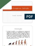 Plano de Emergencia - Definiao