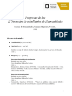 Programa II Jornadas