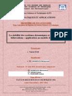 La Stabilitte Des Systemes Dyn - SIAR Najoua_3116