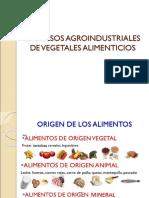 Composición y Clasificación de Vegetales 2019