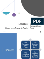 Living on a dynamic earth