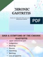 Chronic Gastritis Gastroenterology Health Sciences
