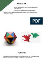 Tajuk 4 Topeng Dan Origami