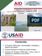 5 Experiencias de Resiliencia en Recurso Agua Cristina Portocarrero
