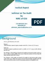 Tax Audit Practical Aspect