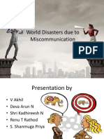 World disasters due to miscommunication