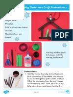 Lolly Stick Nativity Tree Ornament Instructions