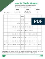 Multiplication and Division Facts Maths Mosaics
