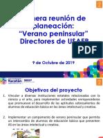 Proyecto Verano Peninsular Primera Reunion Con Directores Yucatán
