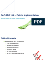 1.1 SAPGRC AC Initial Setup Validation