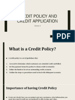 Credit Policy and Credit Application Group 4
