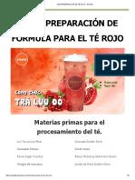 125 # Preparación de Té Rojo - Receta