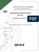 procesos de manufactura I