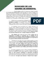 Comunicado de Los Trabajadores de Emdespal