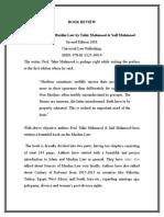 Tahir Mahmood Book review