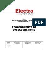 PROCEDIMIENTO SOLDADURA HDPE