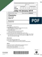 Chemistry Past Paper