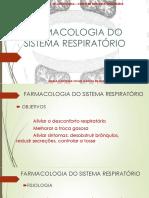 Farmaco AP Aula 5- Sistema Respiratório