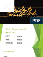Basic Properties of Materials