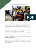 Efectos de La Inmigracion Evenzolana en El Perú