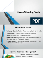 Use of Sewing Tools