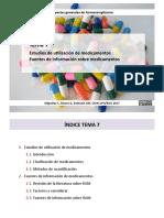 OCW 7. Estudios de utilización de medicamentos. Clasificación de medicamentos