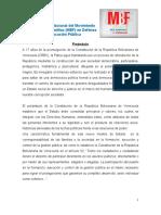 Documento Fundacional Movimiento Bolivariano de Familias 13 09 2016