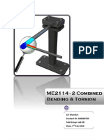 Combined Bending and Torsion Lab report