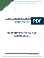 Quantity Survying and Estimation 1