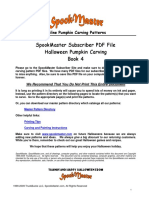 Spookmaster  Pumpkin Carving Patterns Book 4