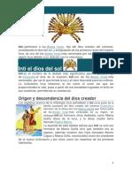 Inti Dios Del Sol Inca