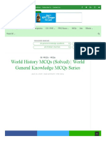 World History MCQs (Solved) _ World General Knowledge MCQs Series