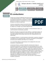 Enfoques educativos - Modelo centrado en el profesor - Conductismo.pdf