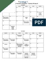 Datas das provas PDF