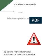 SELECTAREA PIETELOR EXTERNE