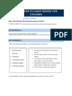 Language Syllabus Design for Children