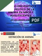 prevencion anemia en niños y adolescentes