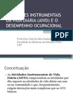 Atividades Instrumentais Da Vida Diária (Aivd)