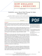 Restrictive versus Liberal Fluid Therapy for Major Abdominal Surgery