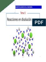 Tema 5  - Reacciones químicas en disolución