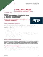 Reglement Scolarite Sciences Po