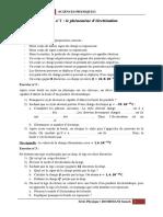 Série 1 Physique Phénomène d'Électrisation