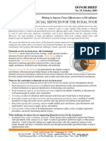 CGAP Donor Brief Financial Services for the Rural Poor Oct 2003